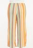 Plus Size Melon Stripe Wide Leg Pants alternate view