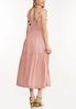 Smocked Blush Midi Dress alternate view