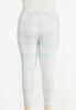 Plus Size Cropped Plaid Leggings alternate view