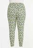 Plus Size Cropped Spring Floral Leggings alternate view