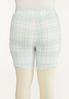 Plus Size Spring Plaid Biker Shorts alternate view