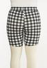 Plus Size Gingham Biker Shorts alternate view