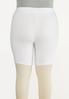 Plus Size Solid Biker Shorts alternate view