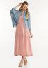 Plus Size Smocked Blush Midi Dress alt view