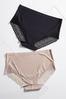 Plus Size Black Scalloped Seamless Panty alternate view