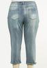 Plus Size Cropped Potassium Wash Skinny Jeans alternate view
