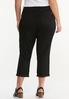 Plus Size Cropped Black Skinny Jeans alternate view