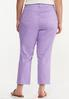 Plus Size Cropped Lavender Skinny Jeans alternate view