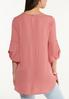 Plus Size Textured Tab Sleeve Top alternate view
