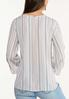 Plus Size Stripe Ruched Sleeve Top alternate view