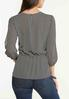 Plus Size Dotted Split Sleeve Top alternate view