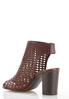 Wide Width Woven Peep Toe Booties alternate view