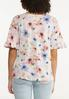 Plus Size Pink Floral Top alternate view