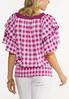 Plus Size Smocked Gingham Top alternate view