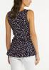 Plus Size Dotted Ruffled Tank alternate view