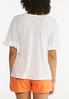 Plus Size Solid Flutter Sleeve Top alternate view