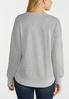 Plus Size Gray Distressed Sweatshirt alternate view