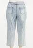 Plus Size Belted Straight Leg Jeans alternate view