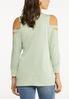 Cutout Cold Shoulder Sweatshirt alternate view