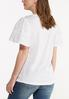 Lace Trim Flutter Sleeve Tee alternate view