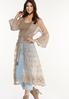 Plus Size Tan Lace Kimono alt view