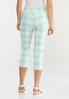 Cropped Mint Gingham Pants alternate view