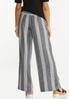 Black Stripe Linen Pants alternate view