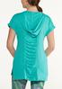 Plus Size French Terry Zippered Top alternate view