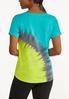 Plus Size Tie Dye Tee Shirt alternate view