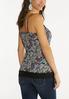 Plus Size Floral Lace Trim Cami alternate view