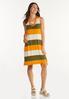 Plus Size Citrus Colorblock Dress alt view
