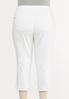 Plus Size White Cropped Girlfriend Jeans alternate view