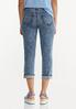 Cropped Vintage Wash Skinny Jeans alternate view