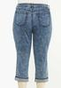 Plus Size Cropped Vintage Wash Skinny Jeans alternate view