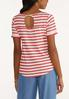 Plus Size Textured Striped Top alternate view