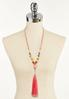 Faux Suede Cord Tassel Necklace alternate view
