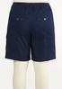 Plus Size Solid Cargo Shorts alternate view