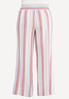 Plus Size Striped Linen Palazzo Pants alternate view