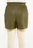 Plus Size Olive Faux Leather Shorts alternate view