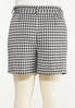 Plus Size Gingham Self Tie Shorts alternate view
