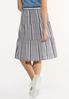 Plus Size Blue Striped Skirt alternate view