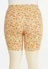 Plus Size Floral Biker Shorts alternate view
