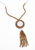 She Is Fearless Tassel Necklace alt view