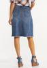 Distressed Frayed Denim Skirt alternate view
