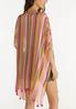 Tassel Trim Striped Kimono alternate view