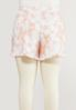 Plus Size Ruffled Tie Dye Lounge Shorts alternate view