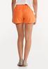 Orange Linen Shorts alternate view