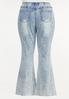Plus Size Acid Wash High Rise Jeans alternate view