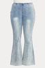 Plus Size Acid Wash High Rise Jeans alt view