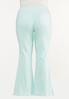 Plus Size Solid Flare Jeans alternate view